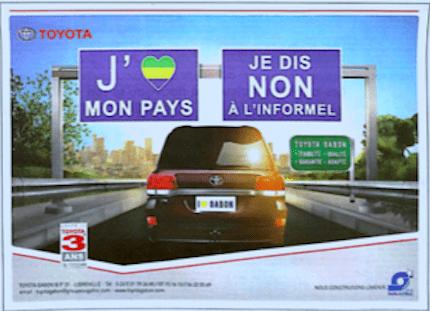 Pour TOYOTA les pauvres n'aiment pas le Gabon !