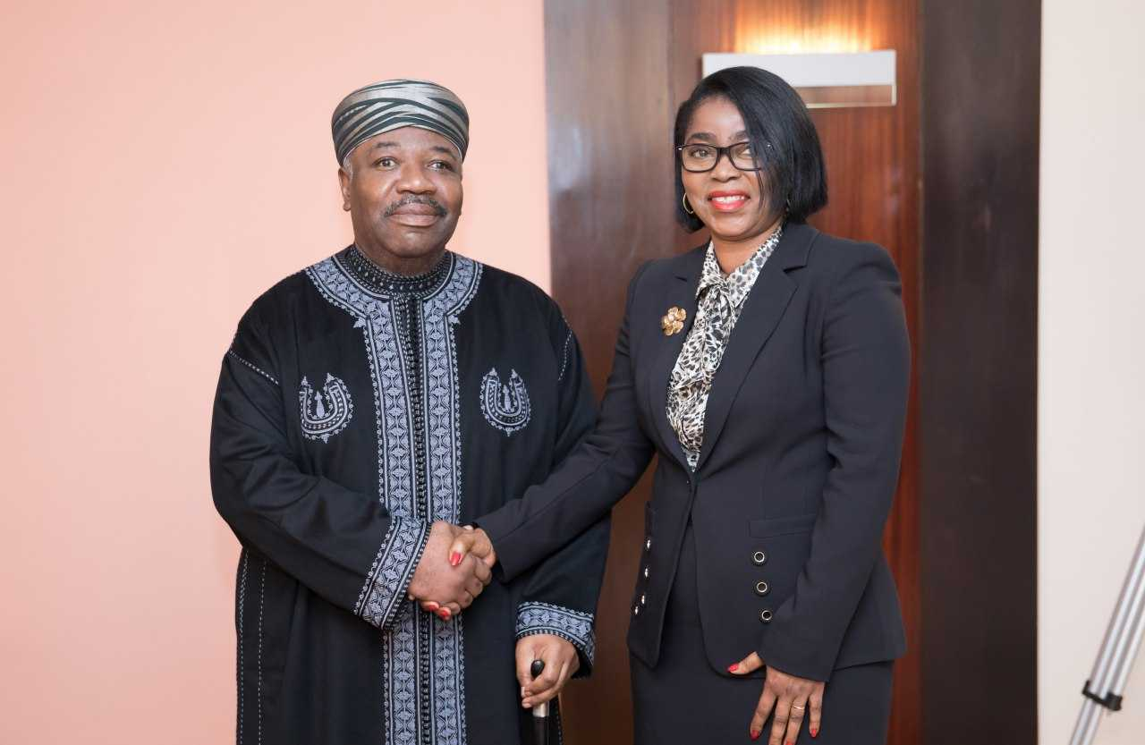 Gabon: Ali Bongo Ondimba préside la prestation de serment de la ministre de La Défense