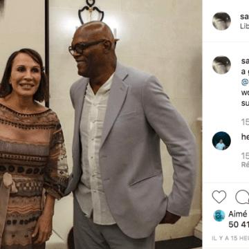 Samuel L. Jackson remercie Ali et Sylvia Bongo Ondimba sur Instagram.