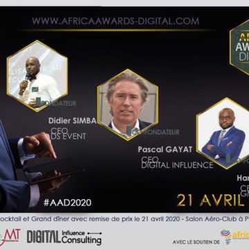 COMMUNIQUÉ DE PRESSE : PREMIÈRE EDITION DES AFRICA AWARDS DIGITAL