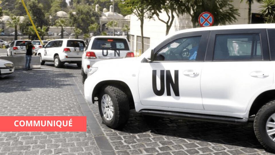 COMMUNIQUÉ DES NATIONS UNIES SUITE À L'ACCIDENT DU 4 JUILLET