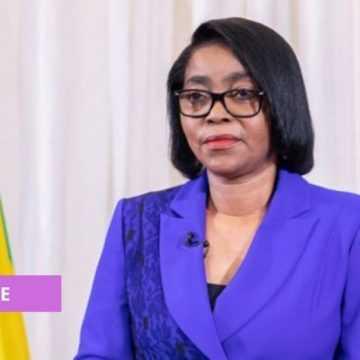 ROSE OSSOUKA RAPONDA À LA CÉRÉMONIE D'INVESTITURE DU PRÉSIDENT ALASSANE OUATTARA