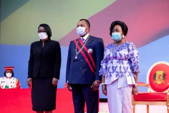 CONGO : ROSE CHRISTIANE OSSOUKA À L'INVESTITURE DE DENIS SASSOU NGUESSO