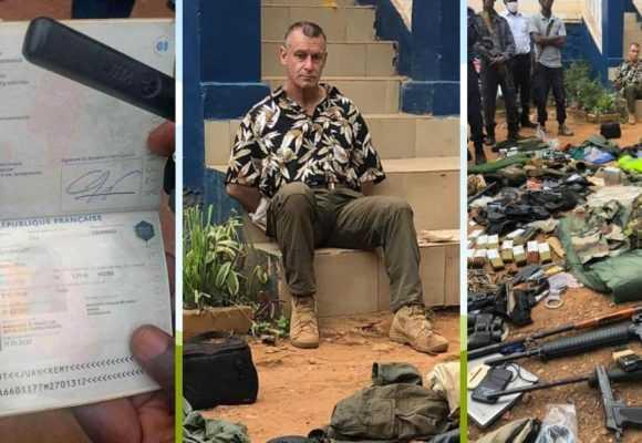 CENTRAFRIQUE : UN MERCENAIRE FRANÇAIS ARRÊTÉ A BANGUI AVEC UN ARSENAL DE GUERRE